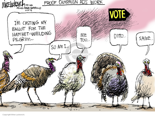 Mike Luckovich  Mike Luckovich's Editorial Cartoons 2014-10-31 midterm