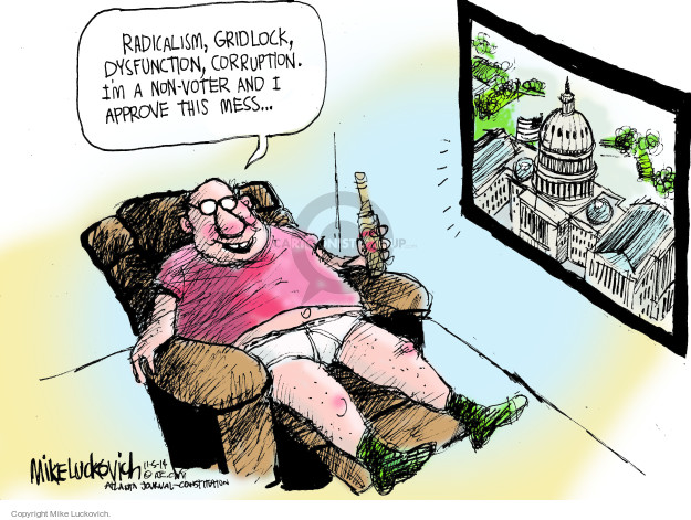Cartoonist Mike Luckovich  Mike Luckovich's Editorial Cartoons 2014-11-05 legislation