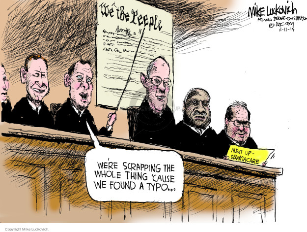 Cartoonist Mike Luckovich  Mike Luckovich's Editorial Cartoons 2014-11-11 Constitution