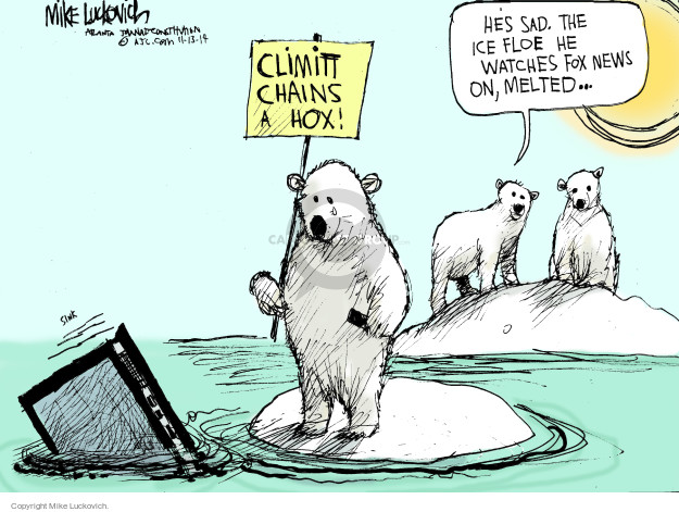 Mike Luckovich  Mike Luckovich's Editorial Cartoons 2014-11-13 sinking