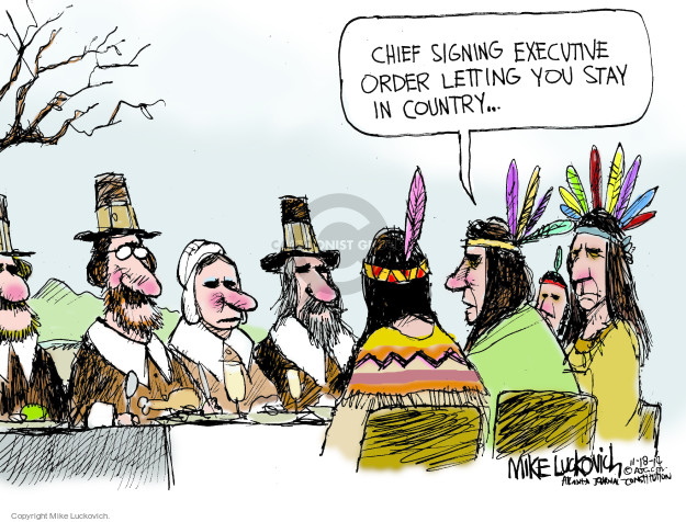 Cartoonist Mike Luckovich  Mike Luckovich's Editorial Cartoons 2014-11-18 CEO