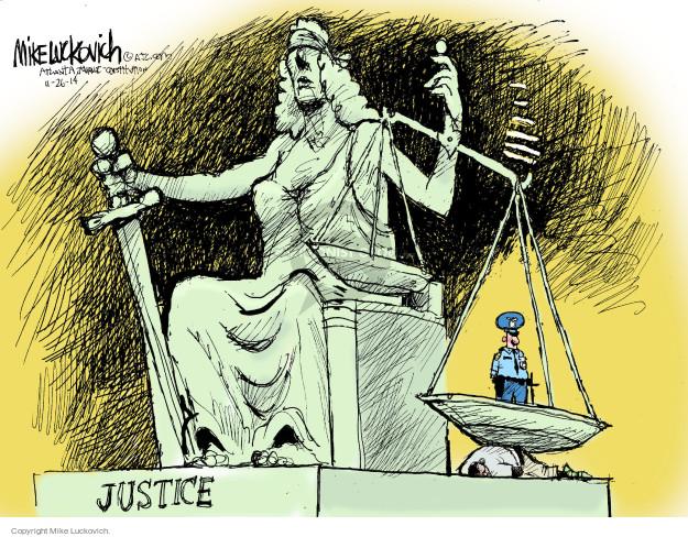 Cartoonist Mike Luckovich  Mike Luckovich's Editorial Cartoons 2014-11-26 judicial branch
