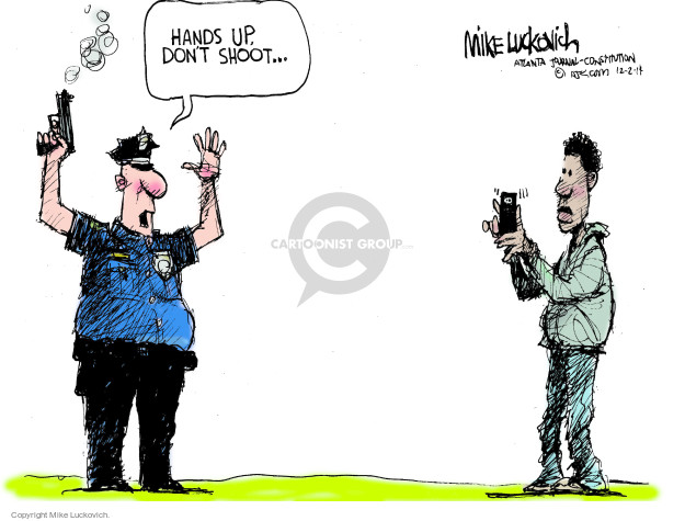 Cartoonist Mike Luckovich  Mike Luckovich's Editorial Cartoons 2014-12-02 law enforcement