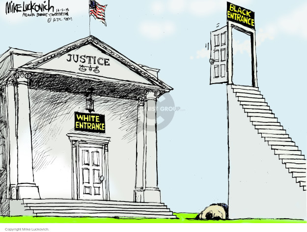 Cartoonist Mike Luckovich  Mike Luckovich's Editorial Cartoons 2014-12-05 law enforcement