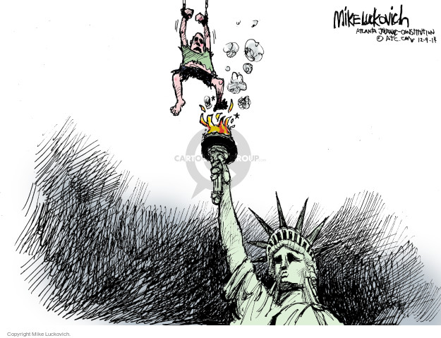 Cartoonist Mike Luckovich  Mike Luckovich's Editorial Cartoons 2014-12-10 Bush administration