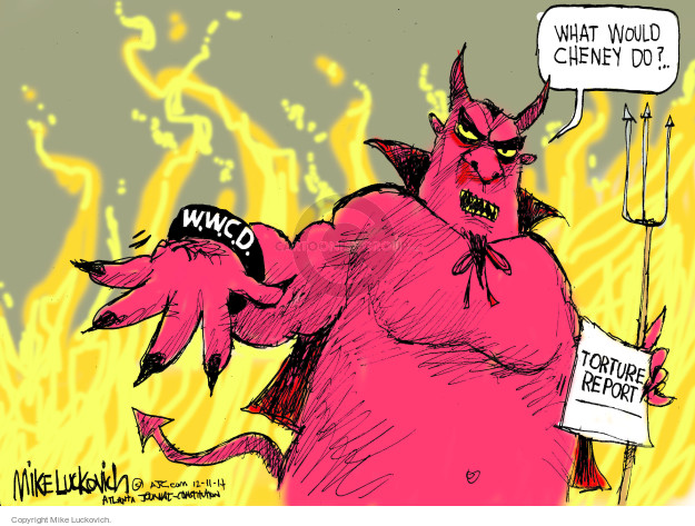 Cartoonist Mike Luckovich  Mike Luckovich's Editorial Cartoons 2014-12-11 Dick Cheney