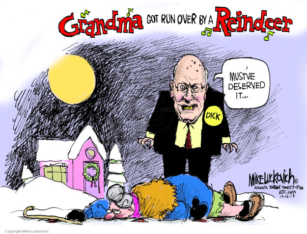 Cartoonist Mike Luckovich  Mike Luckovich's Editorial Cartoons 2014-12-16 Dick Cheney