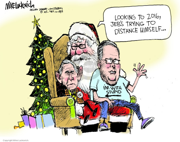 Cartoonist Mike Luckovich  Mike Luckovich's Editorial Cartoons 2014-12-18 George W. Bush