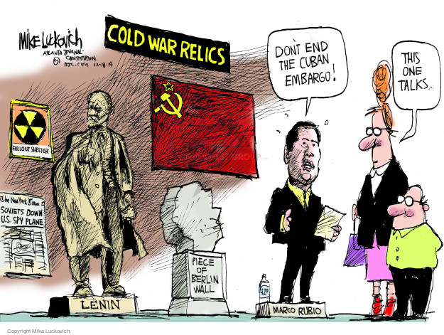 Cartoonist Mike Luckovich  Mike Luckovich's Editorial Cartoons 2014-12-19 communism