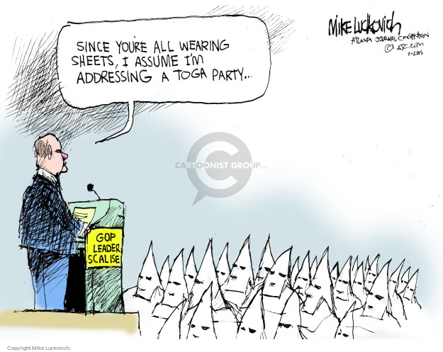Mike Luckovich  Mike Luckovich's Editorial Cartoons 2015-01-01 house majority leader