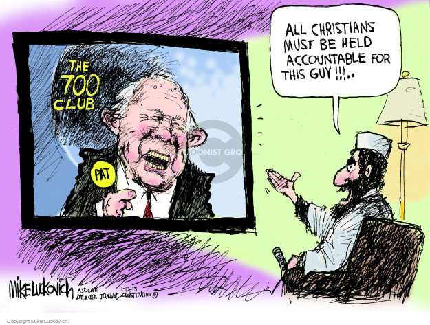 Mike Luckovich  Mike Luckovich's Editorial Cartoons 2015-01-13 terror