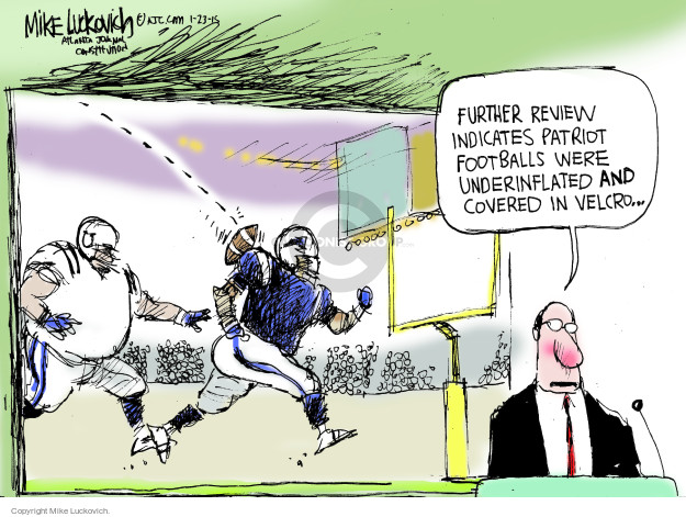 Mike Luckovich  Mike Luckovich's Editorial Cartoons 2015-01-23 NFL
