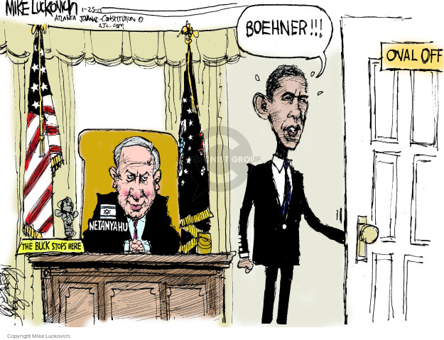 Boehner!!! Oval Office. Netanyahu. The buck stops here.