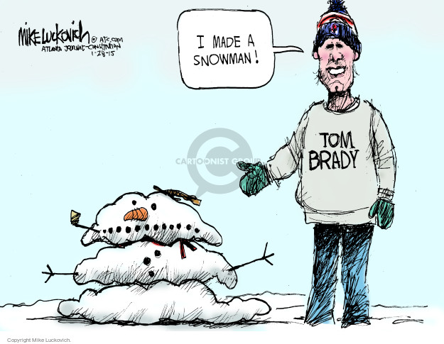 Mike Luckovich  Mike Luckovich's Editorial Cartoons 2015-01-28 football player