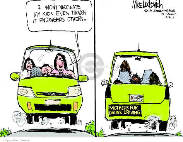 Mike Luckovich  Mike Luckovich's Editorial Cartoons 2015-02-04 vaccinate