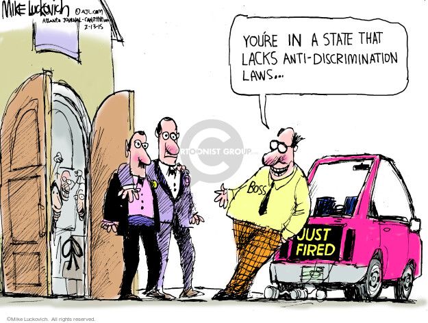 Mike Luckovich  Mike Luckovich's Editorial Cartoons 2015-02-13 discrimination