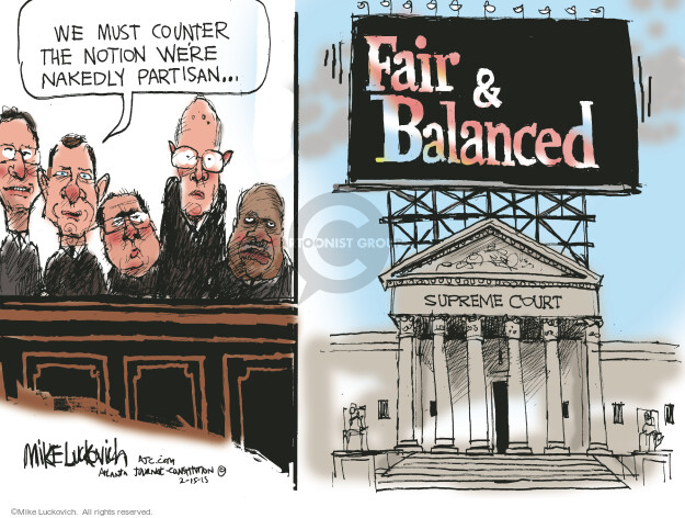 Mike Luckovich  Mike Luckovich's Editorial Cartoons 2015-02-15 partisan