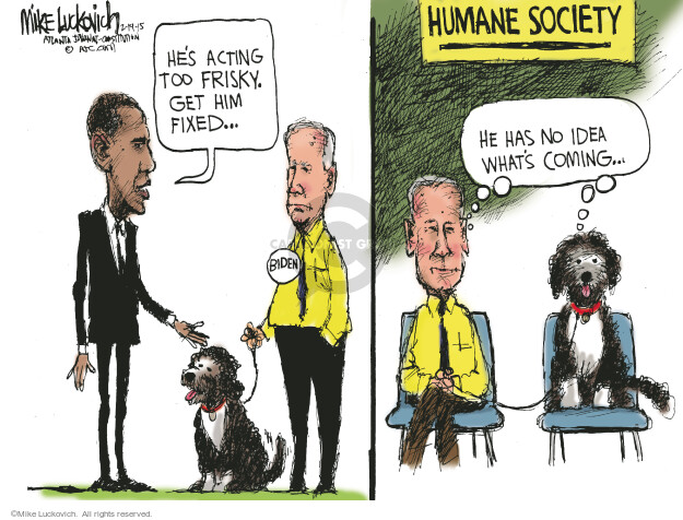 Mike Luckovich  Mike Luckovich's Editorial Cartoons 2015-02-19 Obama Biden