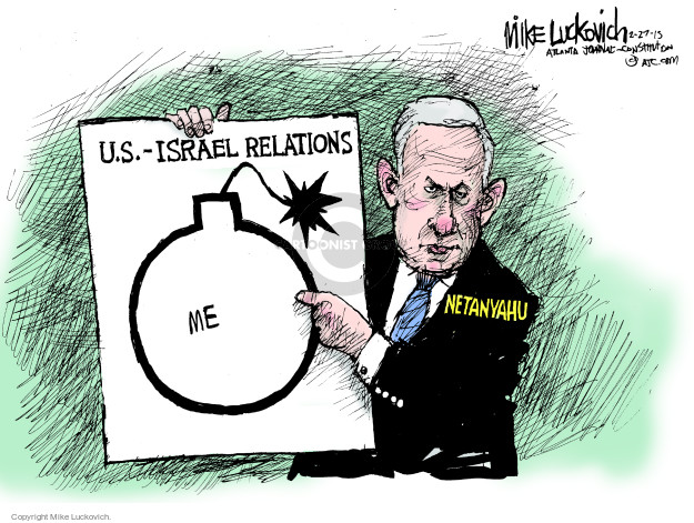 Mike Luckovich  Mike Luckovich's Editorial Cartoons 2015-02-27 United States and Israel