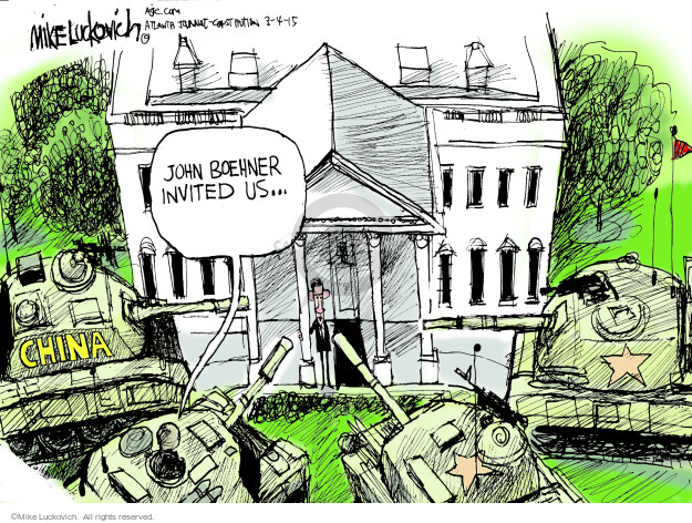 Mike Luckovich  Mike Luckovich's Editorial Cartoons 2015-03-04 Obama Boehner