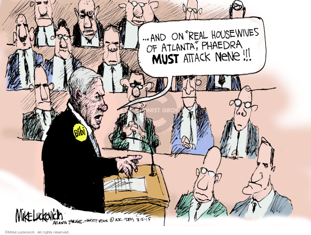 Mike Luckovich  Mike Luckovich's Editorial Cartoons 2015-03-05 Israel