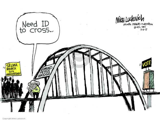 Mike Luckovich  Mike Luckovich's Editorial Cartoons 2015-03-08 voting rights
