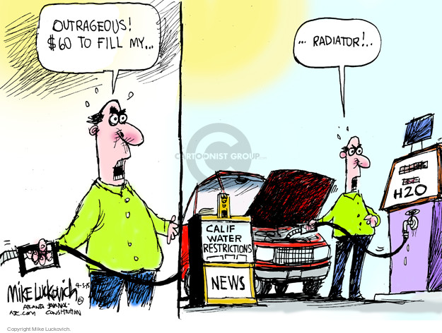 Mike Luckovich  Mike Luckovich's Editorial Cartoons 2015-04-05 water