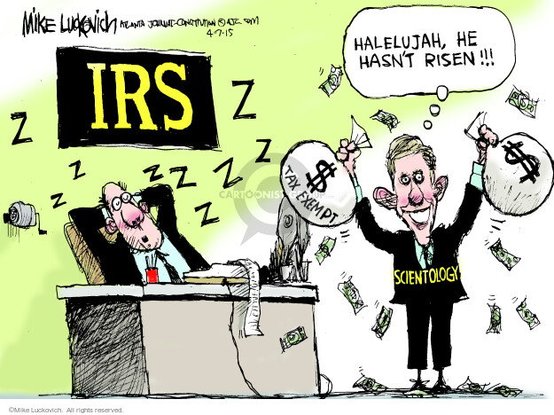 Mike Luckovich  Mike Luckovich's Editorial Cartoons 2015-04-07 IRS