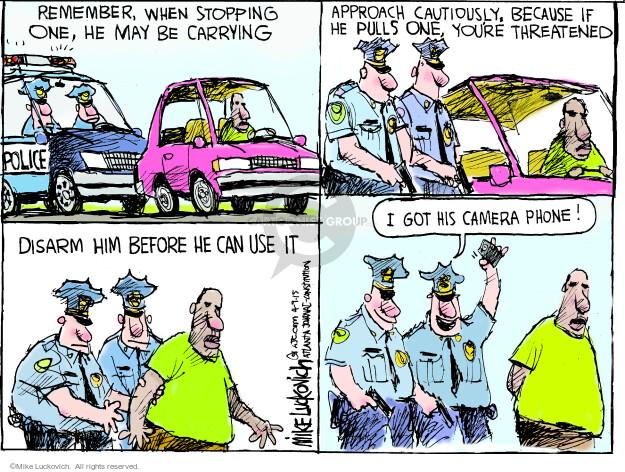 Cartoonist Mike Luckovich  Mike Luckovich's Editorial Cartoons 2015-04-09 threat