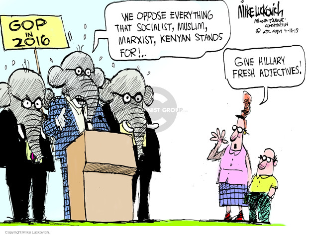 Mike Luckovich  Mike Luckovich's Editorial Cartoons 2015-04-14 Republican opposition