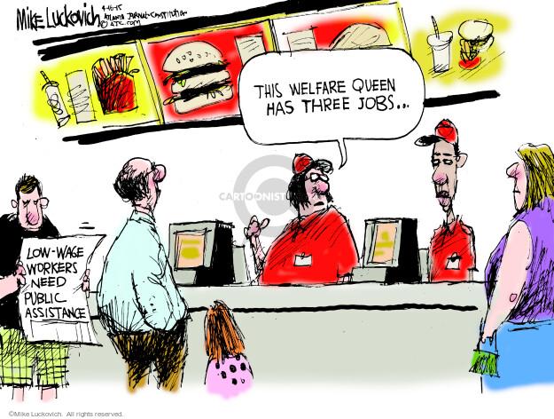 Cartoonist Mike Luckovich  Mike Luckovich's Editorial Cartoons 2015-04-16 employee