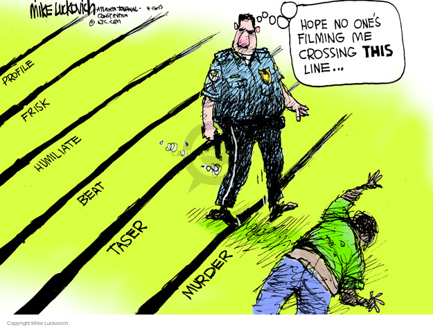 Cartoonist Mike Luckovich  Mike Luckovich's Editorial Cartoons 2015-04-17 civil rights