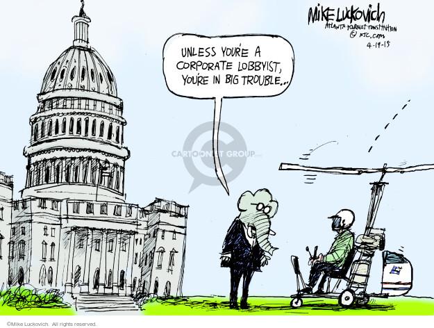 Cartoonist Mike Luckovich  Mike Luckovich's Editorial Cartoons 2015-04-19 finance