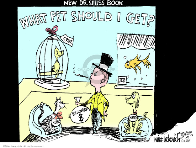 Cartoonist Mike Luckovich  Mike Luckovich's Editorial Cartoons 2015-04-21 book