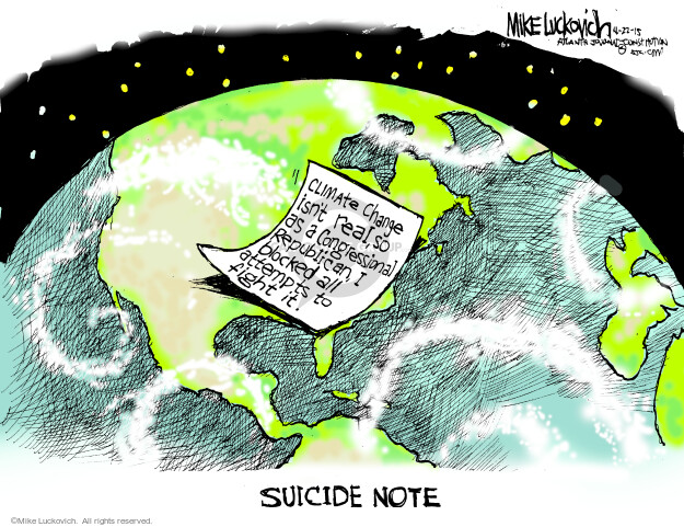 Mike Luckovich  Mike Luckovich's Editorial Cartoons 2015-04-22 opposition