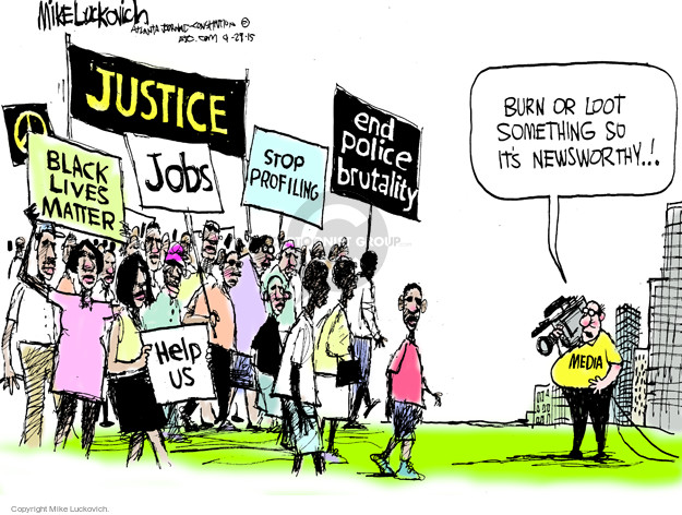 Cartoonist Mike Luckovich  Mike Luckovich's Editorial Cartoons 2015-04-29 media bias