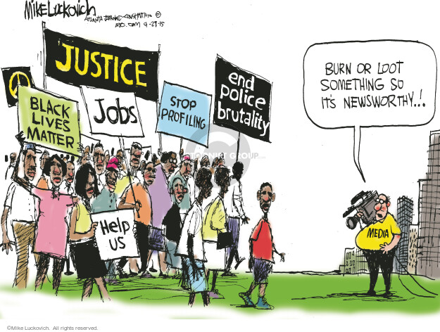 Mike Luckovich  Mike Luckovich's Editorial Cartoons 2015-04-29 Black Lives Matter