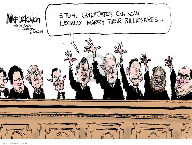Cartoonist Mike Luckovich  Mike Luckovich's Editorial Cartoons 2015-05-01 Supreme Court