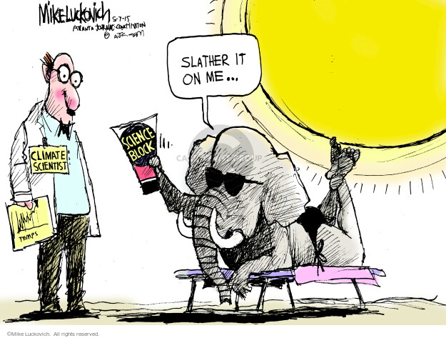 Mike Luckovich  Mike Luckovich's Editorial Cartoons 2015-05-07 republican politician