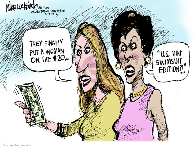 Cartoonist Mike Luckovich  Mike Luckovich's Editorial Cartoons 2015-05-17 woman