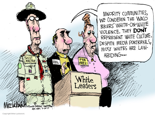 Cartoonist Mike Luckovich  Mike Luckovich's Editorial Cartoons 2015-05-20 culture