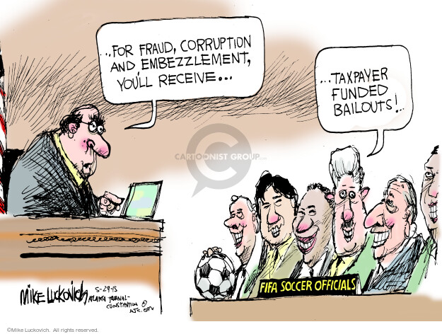 Mike Luckovich  Mike Luckovich's Editorial Cartoons 2015-05-29 fraud