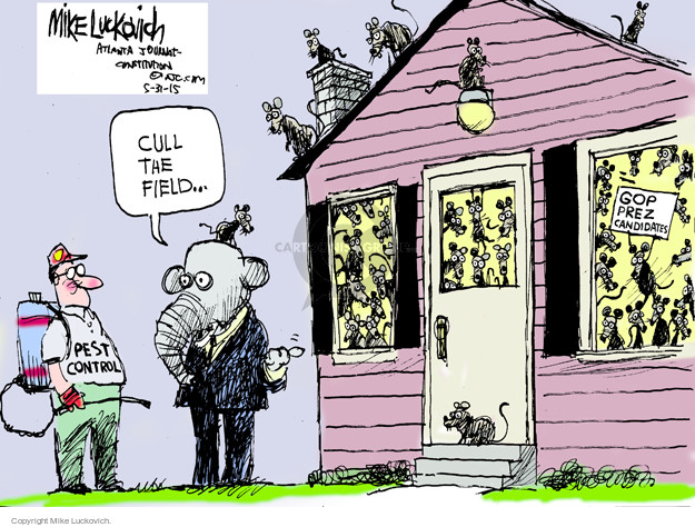 Mike Luckovich  Mike Luckovich's Editorial Cartoons 2015-05-31 presidential election