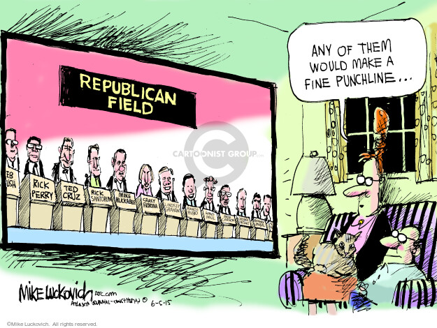 Mike Luckovich  Mike Luckovich's Editorial Cartoons 2015-06-05 republican politician