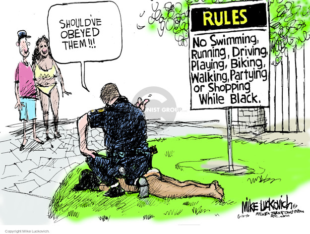Cartoonist Mike Luckovich  Mike Luckovich's Editorial Cartoons 2015-06-10 gun rights