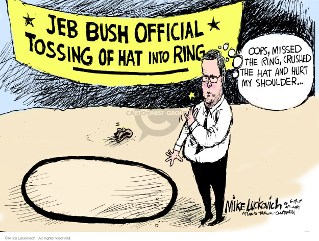 Cartoonist Mike Luckovich  Mike Luckovich's Editorial Cartoons 2015-06-14 former governor