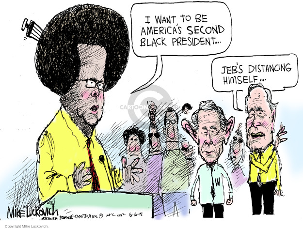 Mike Luckovich  Mike Luckovich's Editorial Cartoons 2015-06-16 George Bush
