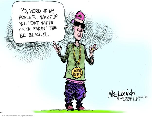 Cartoonist Mike Luckovich  Mike Luckovich's Editorial Cartoons 2015-06-18 racial
