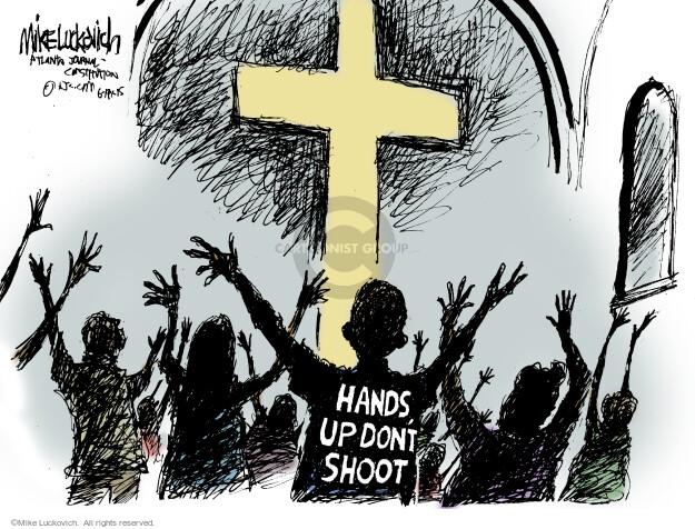 Cartoonist Mike Luckovich  Mike Luckovich's Editorial Cartoons 2015-06-19 gun rights