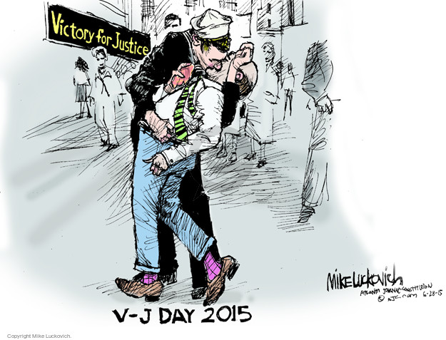 Cartoonist Mike Luckovich  Mike Luckovich's Editorial Cartoons 2015-06-28 legal